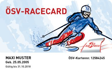 Muster RaceCard Saison 2017/2018
